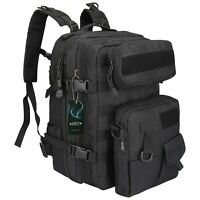 40L Waterproof Military Tactical Sport Backpack Hiking Outdoor Travel Bag - Bran