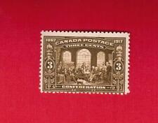 1917  #  135 ** FNH  TIMBRE  CANADA STAMP  50TH ANNIV OF CONFEDERATION