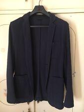 giacca sisley blu M 48 giacche jacket man slim jacket's capospalla shirt estate