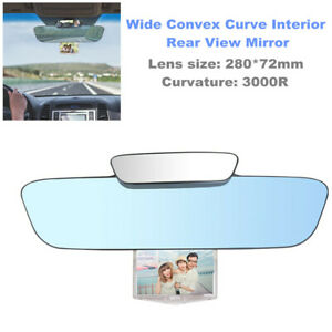 3 IN 1 Car 330mm Wide Convex Curve Interior Clip On Rear View Mirror Anti-glare