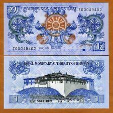 Bhutan, 1 Ngultum, 2013, P-NEW, Z-Prefix, UNC > Replacement