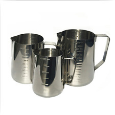 Stainless Steel Espresso Coffee Milk Cup Frothing Pitcher Pull with in out Scale