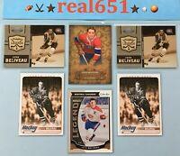 2008+ JEAN BELIVEAU Insert-SP Lot x 6   Legends /500 OPC   Canadiens HOF Batch