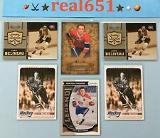 2008+ JEAN BELIVEAU Insert-SP Lot x 6 | Legends /500 OPC | Canadiens HOF Batch