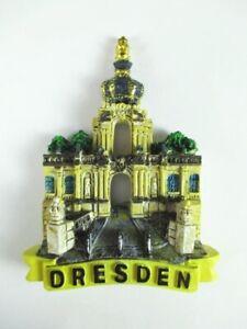 Dresde Puerta Imán 3D Óptica 6,5CM, Souvenir Germany Alemania, Nuevo