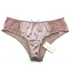 Philippe Matignon Women's Underwear Silk & Lace Culotte Brief Panties SIZE: M