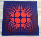 Mid Century Modern Unframed Sinlag II Victor Vasarely Hand Signed Lithograph