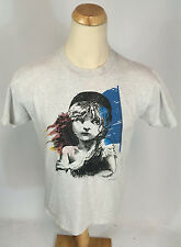 Vintage 1986 Les Miserables Broadway Musical T Shirt 80s L Gray new york Theatre