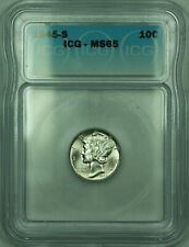 1945-S Mercury Silver Dime 10c Coin ICG MS-65 (SSS)