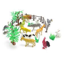 Giocattolo per Bambini Animali Fattoria Set MUCCHE CAVALLI LARGE POLLO CONIGLIO Pecora Animale Set