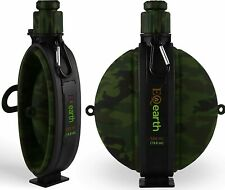 EQearth Silicone Foldable Water Bottle with Compass –Army & Navy Design, Outdoor