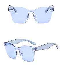 Candy Color Retro No Frame Sunglasses Cat Eye Transparent Glasses Unisex