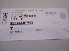 BILLET AUXERRE v LILLE france 2005 football uefa cup ticket