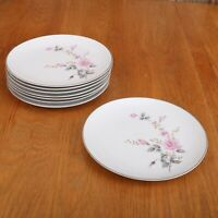 8 Castle Court Rose Glow Salad Plates Fine China Japan