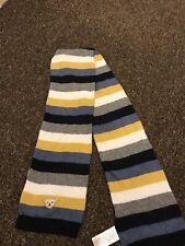 Boys Steiff Scarf Navy Gray Yellow One Size