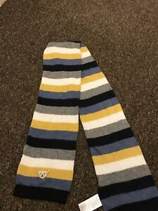 Steiff Boys  Scarf Navy Gray Yellow One Size