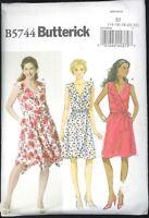 Misses Easy Mock Wrap Dress Pattern Size 14 16 18 20 22 Butterick 5744 Uncut