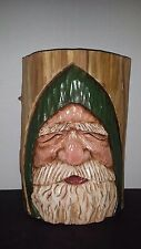 Original Folk Art Silvestri Kathy Ravenberg Wood Hand Carved Santa Christmas SLC