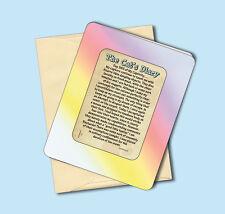 """""""The Cat's Diary"""" - Keepsake Enclosed - Humorous Verse Card - sku# 114"""