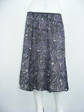 """SIGRID OLSEN Skirt Multicolor Poly LINED Inverted Pleats Mid-calf Sz - W38"""""""