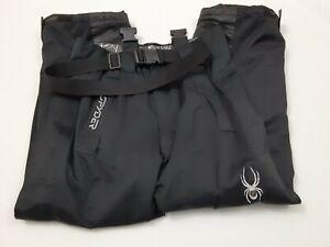 Spyder Bib Overalls Black Ski Snowboard Snow Pants Insulated Men's Size Small
