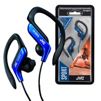 JVC IN EAR SWEAT RESISTANT FITNESS SPORTS HEADPHONES EARPHONES - BLUE - HAEB75A