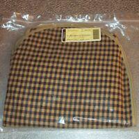 Longaberger Khaki Check LARGE BOARDWALK Basket Liner ZIPPER ~ Brand New in Bag!