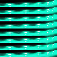 Lot8 Green 15 LED 30CM Car Grill Flexible Waterproof Light Strip SMD 12V Sales