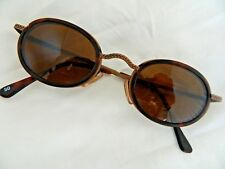 9322f51b5d Vintage sunglasses steampunk Christian Roth series 1301 dark copper metal  oval