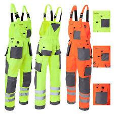 Arbeitslatzhose Sicherheitshose Warnhose Latzhose Warnschutzhose (LH-FMNX-B)