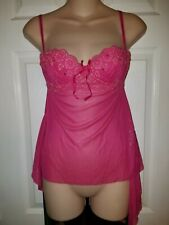 NWOT Victoria's Secret Sexy Little Things Pink Lace Glitter Lingerie 34B SEXY