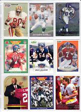 vintage lot of 9 superstars & Hall of Famers Elway Marino Rice Riggins NM-MINT