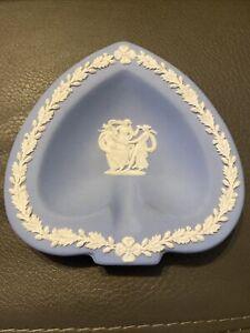 Wedgewood Plate Blue Spade Shape Ashtray