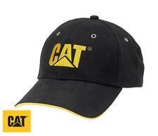 Cat Caterpillar Classic Men's Baseball Cap Black Microsuede Outer One Size