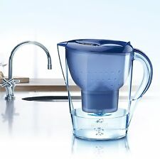 BRITA Marella XL Water Filter Jug Pitcher Blue 3.5L. Plus One Maxtra Cartridge