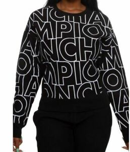Champion Women's Reverse Weave All Over Print Crew - X-Large