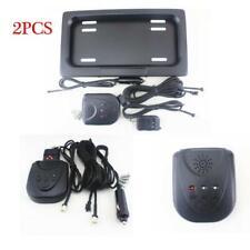 2X Shutter Cover Up Electronic Stealth Car License Plate Frame Holder Bracket US