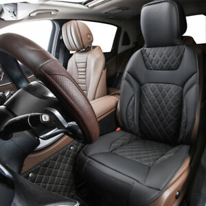 Universal Car Seat Cushion Black Deluxe Edition Leather Anti-dirty for SUV Sedan