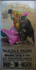 Original Bullfighting Poster - Plaza de Toros de Madrid - 1970