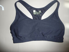 XERSION,Sports Bra Mesh 9%, Fitted~M~Black/Solid,90%Polyester/10%Spandex,Lined