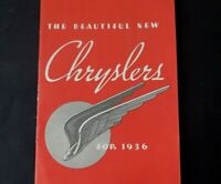 Old 1936 CHRYSLER Booklet Fantastic Condition Must See    B