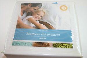 LINENSPA Waterproof Mattress Encasement - Queen - Bed Bug & Dust Mite Barrier