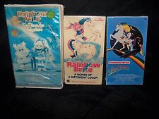 Lot of 3 Rainbow Brite VHS TESTED ~ San Diego Zoo, Star Stealer, Horse Color