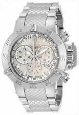 Stainless Steel Case Silver Band Watches with Chronograph