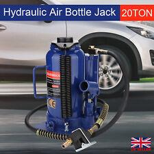 20 Ton Pneumatic Air Hydraulic Bottle Jack With Manual Hand Pump Car Van Truck Uk