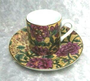 Herman Dodge & Sons Hues 'n' Brews Demitasse Coffee Floral Cup & Saucer