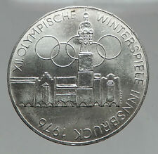1976 Innsbruck Buildings WINTER Olympic Games AUSTRIA Large SILVER Coin i63014