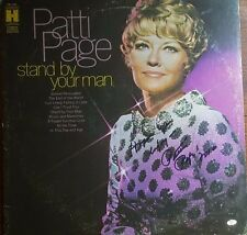 Patti Page Signed Album W/Mead Chadsky Authentication Traditional Pop Country