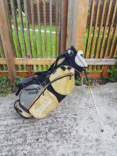 Titleist 4 Way Lightweight Stand Carry Golf Bag Mustard Yellow & Black