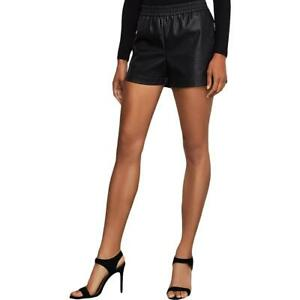 BCBGMAXAZRIA Womens Bry Faux Leather Perforated Boxing Shorts BHFO 3914